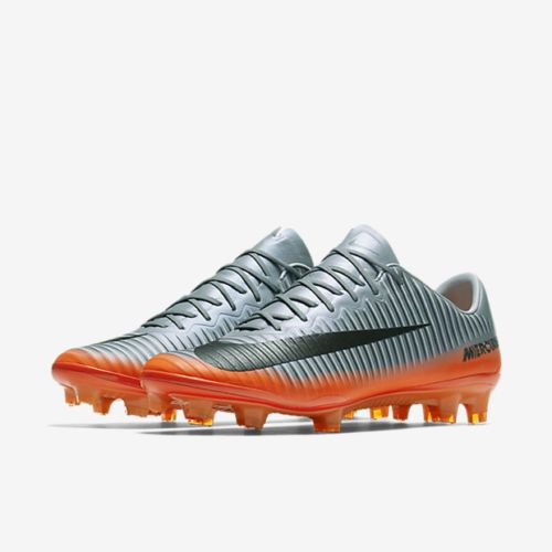 brand new 93f57 762a1 Nike Mens Mercurial Vapor XI CR7 FG Cleat (Cool GreyMetallic) 852514 001   Cleats and Soccer cleats