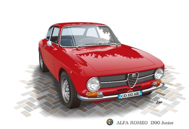 AlfaRomeo 1300GT junior(Vector Illustration)