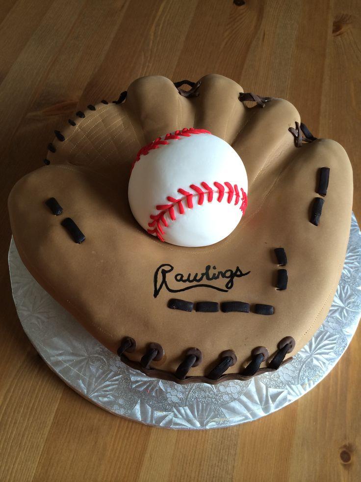 Baseball Glove Cake ~ SweetsByTammy.com