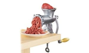 Create your own minced meat and other recipes with the manual meat grinder