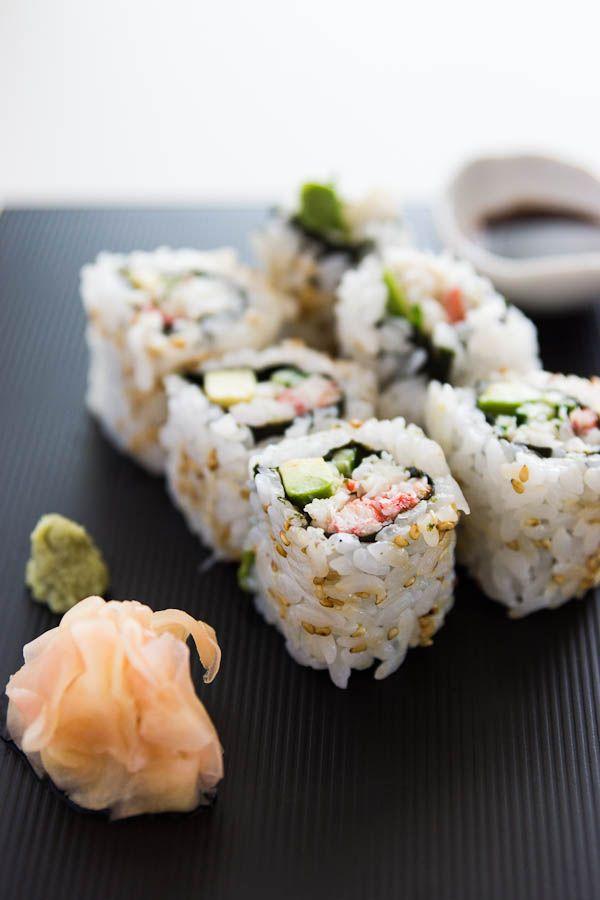 easy California Roll Sushi #recipe