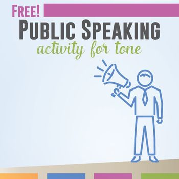 Free Public Speaking Activity: practice tone with this free speech activity. Help students see the effect of their tone on meaning.