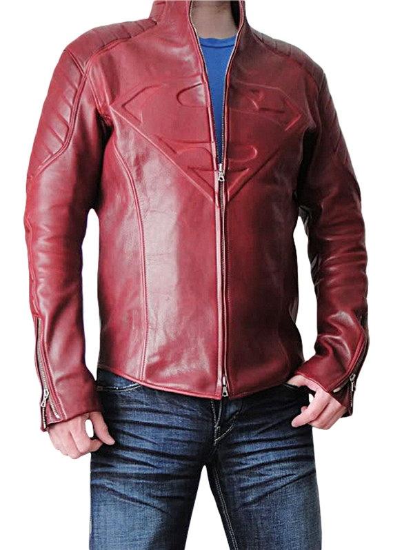Superman Smallville Leather Jacket Size XL Leather