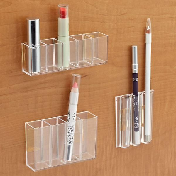 StickOnPods from The Container Store are awesome for corralling those small daily-use items in your medicine cabinet!   Organized Bathroom | Bathroom Organization | Organized Medicine Cabinet | Medicine Cabinet Organization | Organized Makeup | Makeup Organization | Houston Professional Organizer | Houston Organizer