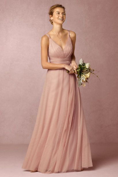 Long Pink Bridesmaid Dress Fashion Amp Glam Robe Mode