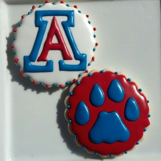 University of Arizona Sweet 16 Basketball Cookies