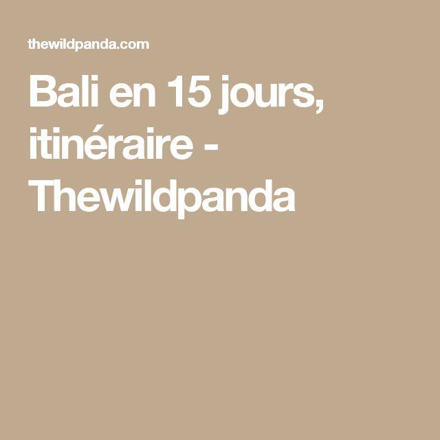 Bali en 15 jours, itinéraire - Thewildpanda