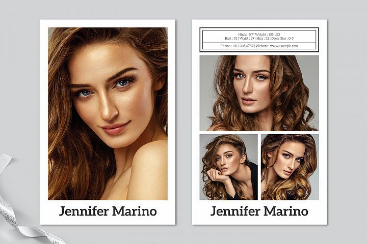 Model Comp Card Template 304605 Card Making Design Bundles Model Comp Card Card Templates Free Card Template