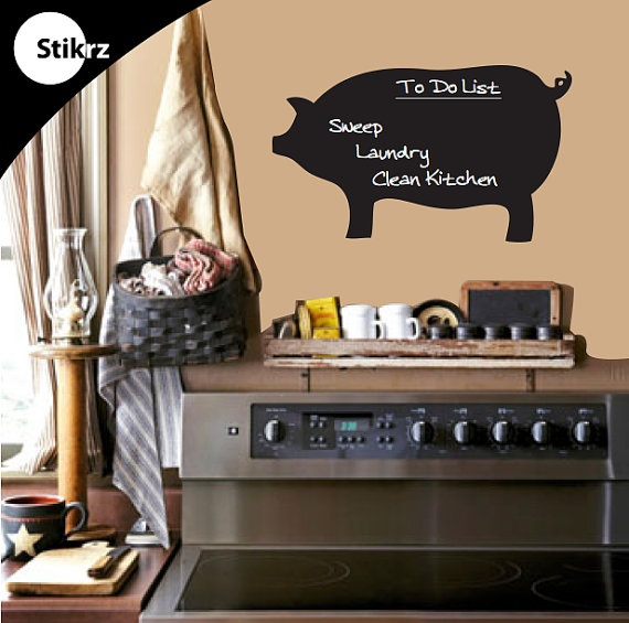 Adorable Pig Chalkboard! I Want This For The Kitchen. $20