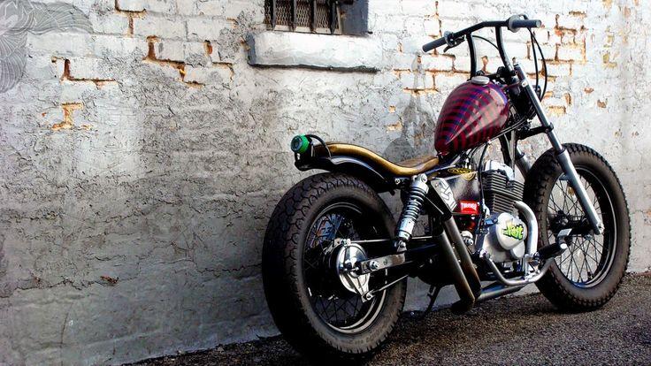honda rebel 250cc brat bobber - rear   machine-13