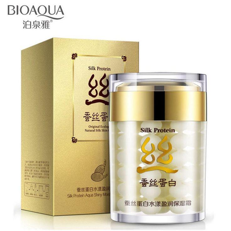 BIOAQUA Brand Silk Protein Deep Moisturizing Face Cream Shrink Pores Skin Care Anti Wrinkle Cream Face Care Whitening Cream