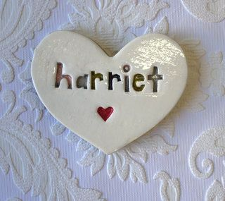 Custom Ceramic Tile Personalized Name Heart by The Monster Company
