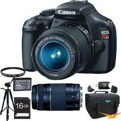 Canon EOS Rebel T3 SLR Digital Camera w/ 18-55mm & 75-300mm Full Photo Experience kit $649.00
