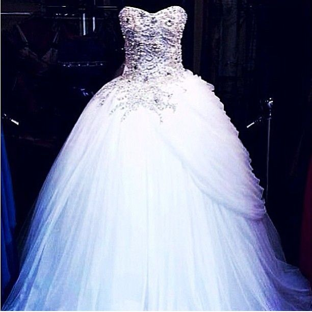 17 best images about wedding fit for a queen on pinterest for Bling princess wedding dresses