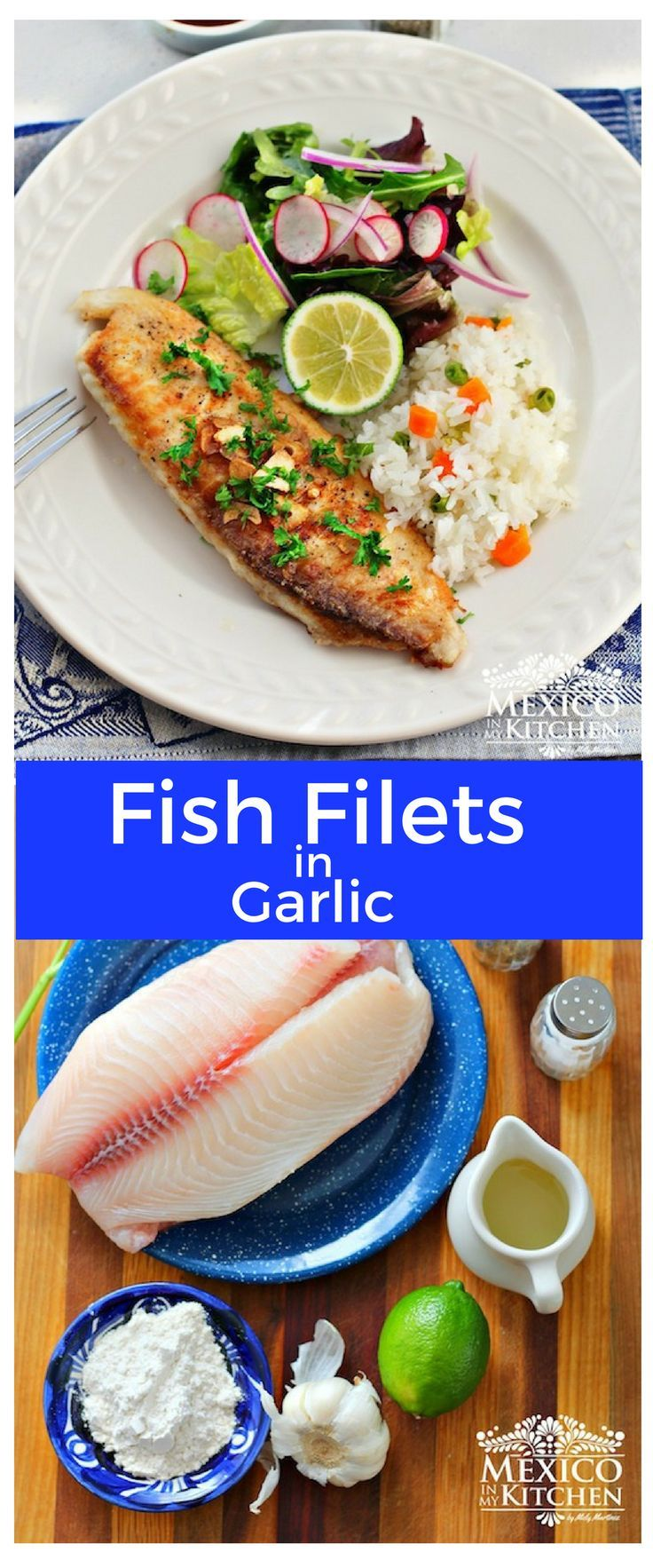 """This Fish Fillets """"Al Mojo de Ajo"""" recipe is one of thequickest ways to prepare fish filets. #recipe #mexican #fish"""