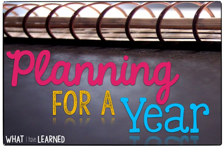 Planning for a Year