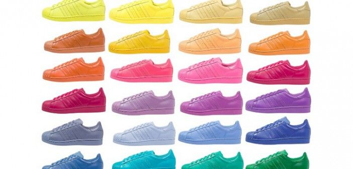 COLOR BLOCKING | ADIDAS SUPERSTAR SUPERCOLOR BY PHARELL ADIDAS #supercolor Die neuen coolen #adidas #Superstars by #Pharell #50Farben #sneaker #turnschuhe #trend #colorblocking mehr #Stylingideen und #Kauftipps auf #stylepeacock_com