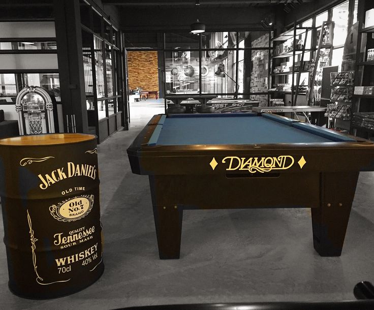 A #sneakpeak into our latest #beautiful #bangkok #bkk #showroom #megashowroom and #flagshipstore in #ratburana ! #thailand and #asia 's #largest #billiard and #games #retailstore ! Pictured here is our #diamondbilliards #diamondpooltables Pro Am 9ft with #simoniscloth cloth and a #jackdaniels #jackdaniel #barrel  Huge selection of #pooltables #billiards #pingpong #tabletennis #shuffleboard #darts #airhockey #foosball #foosballtable #arcadegames