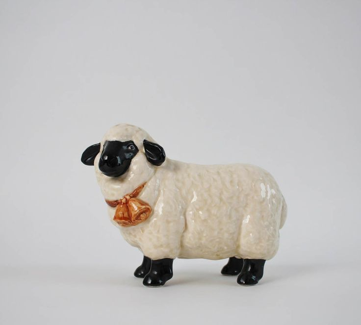 Vintage Ceramic Sheep Figurine Bank - Otagiri Ceramic Piggy Bank Wooly Sheep - Farmhouse Kitchen Decor by Suite22 on Etsy