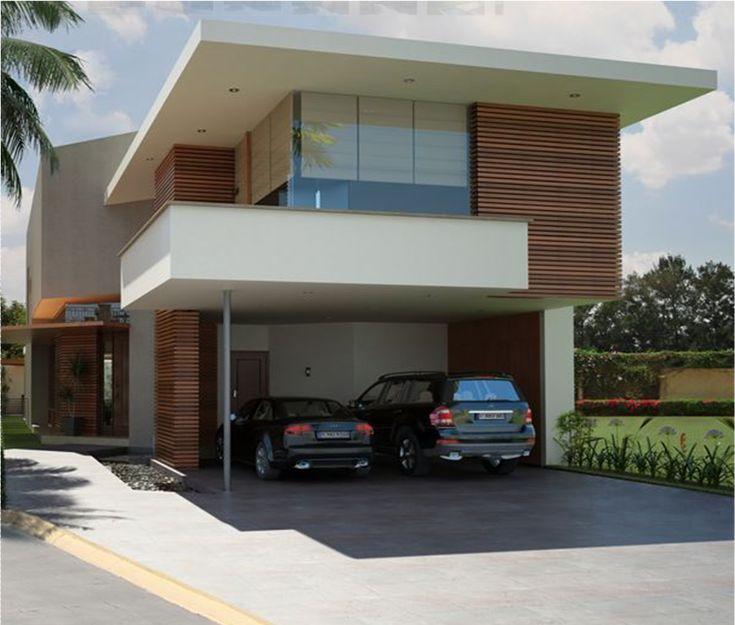Casa moderna estilo minimalista fachadas pinterest for Casas pequenas estilo minimalista