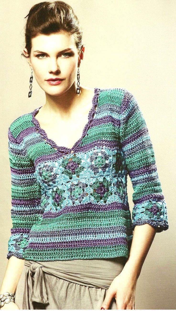 Crochet pullover — Crochet by Yana
