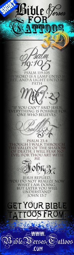 Psalms 23:4 would make an awesome foot tattoo!!!