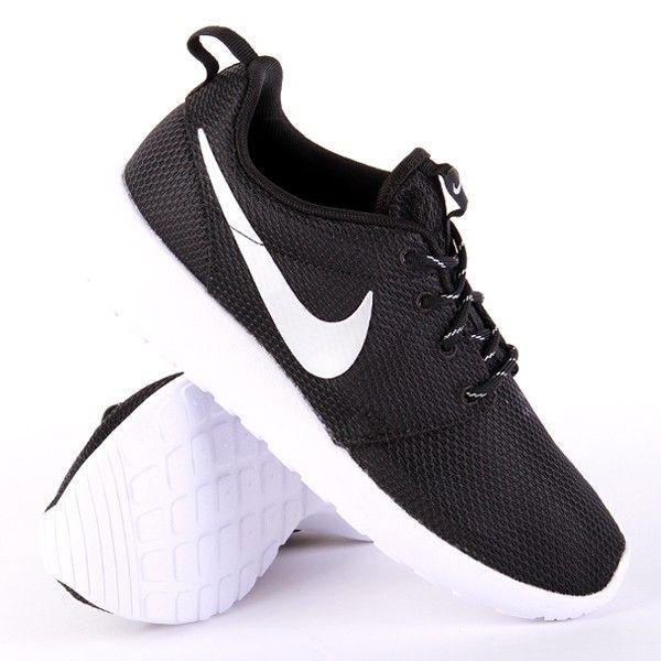 Nike WMNS Roshe Run Black Metallic Platinum White #sneakers #nike #rosherun  #fashion
