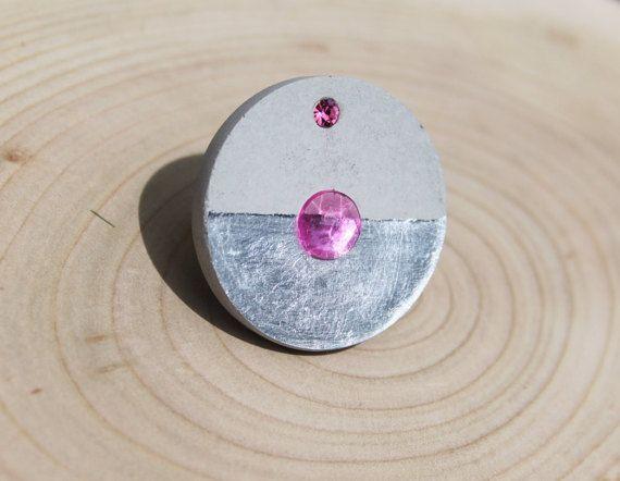 Bague originale en béton bague moderne bijoux béton par LRTendance