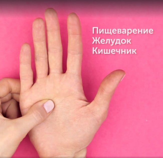 5активных точек наладонях, которые управляют организмом