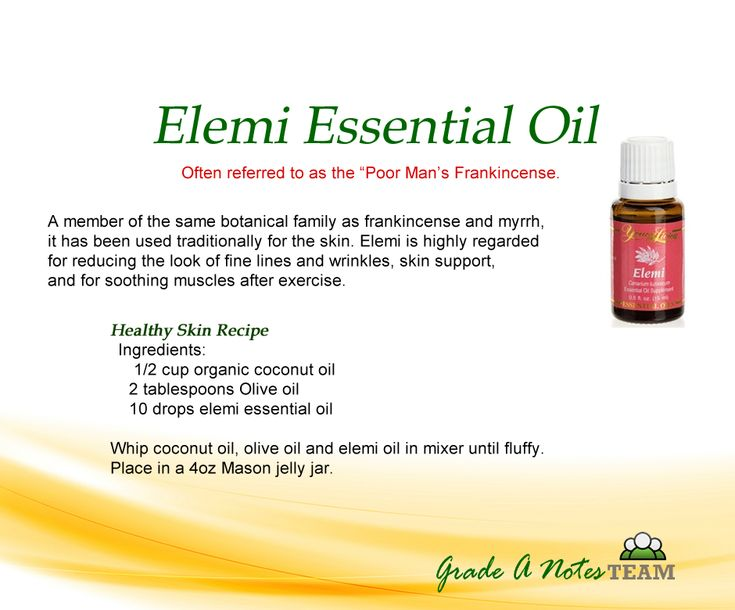 I love Elemi oil but I recommend jojoba oil as a carrier oil on your face.  Use the coconut oil everywhere else.   Check out more at www.ylwebsite.com/csigmon