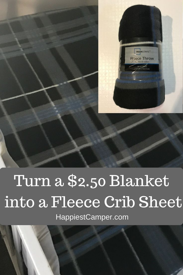 Make a fleece crib sheet for under $3!  The frugal way to sew a fleece crib sheet.  Fleece crib sheets are easy to sew too!