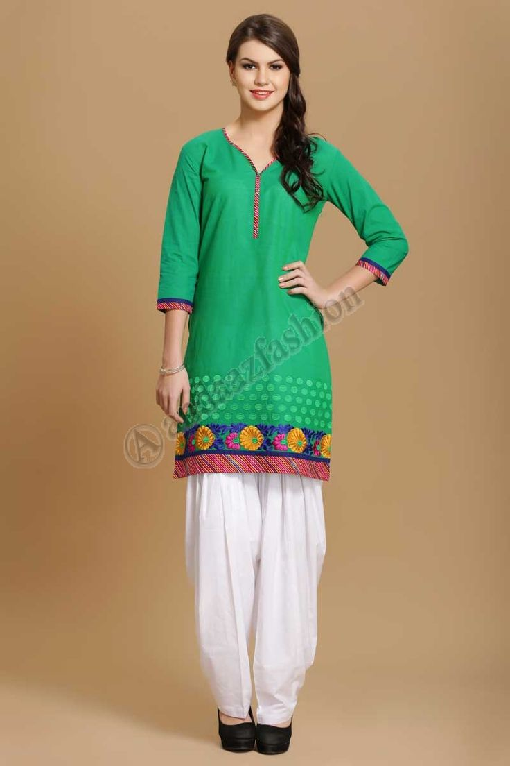Ligne Coton Kurtis tuniques pour les femmes Design No. 4005 Prix- 17,60 € Coton doux imprime kurti avec resham embroiderey @http://www.andaazfashion.fr/womens/kurti-tunic/online-cotton-kurtis-tunics-for-women-4005.html