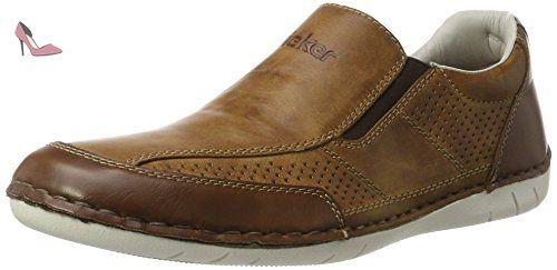 Rieker B8275, Mocassins Homme, Marron (Kastanie/Peanut/Royal / 25), 43 EU - Chaussures rieker (*Partner-Link)