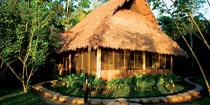 Inkaterra Reserve Amazonica Lodge  Inspired by native Amazon design, Reserva Amazonica offers 30 thatched roof cabañas - all combining natural materials with contemporary amenities and built in the native Machiguenga and Ese-Eja style.