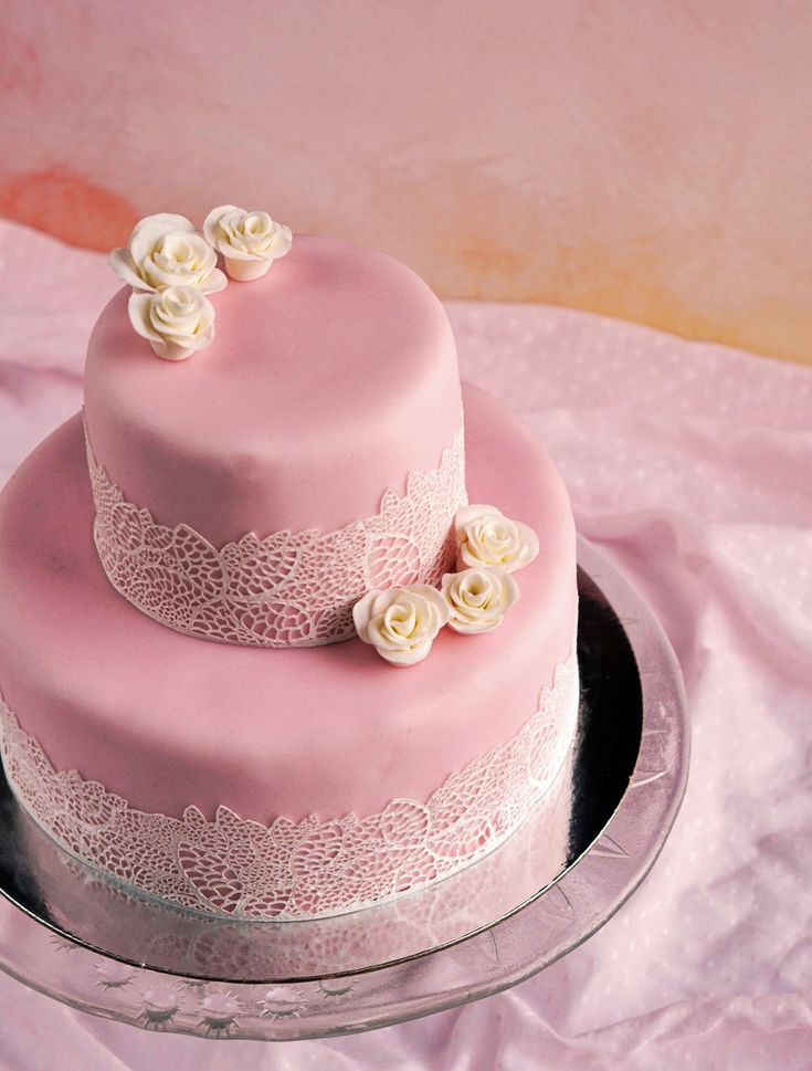 Csipkés torta készítése - házi cukorcsipke  Homemade sugarlace