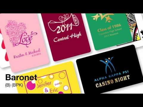 Gemaco's casino-quality playing cards are the unexpected way to promote your organization. With low minimums, the Baronet playing card comes in over 20 …