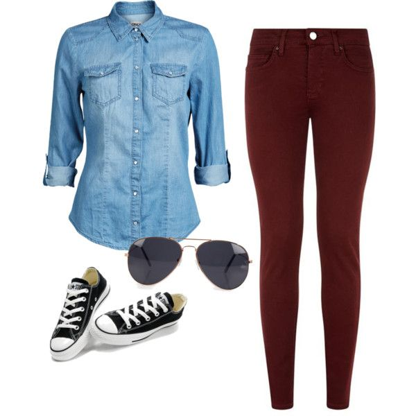 Cute outfit with converse.