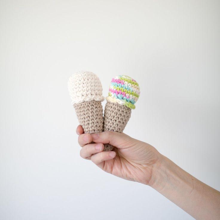 Crochet Ice Cream Cones (Set of 2) Made Collective