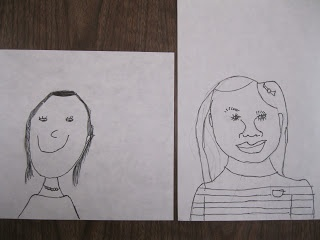 Line Drawing Of Child S Face : Best self portrait art lessons images