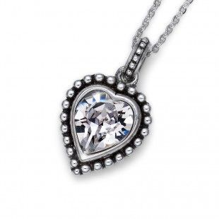Oliver Weber Women lovely crystal pendant necklace antique heart with Swarovski Crystals