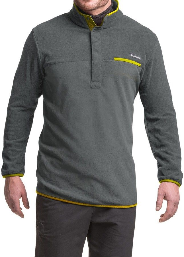 Columbia Mountain Side Fleece Shirt - Snap Neck, Long Sleeve (For Big Men)