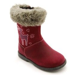 Berry Leather Girls Zip-up Children's Boots
