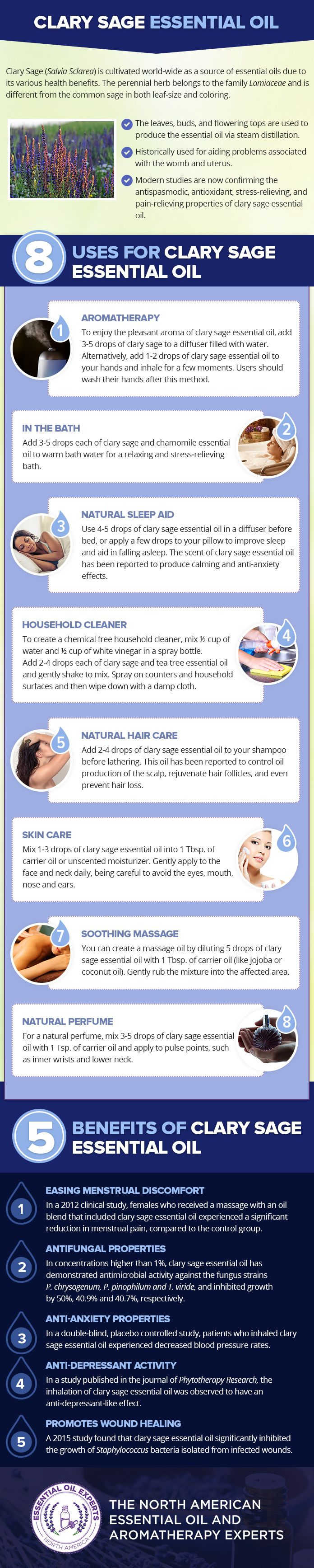 Clary Sage Essential Oil Uses & Benefits