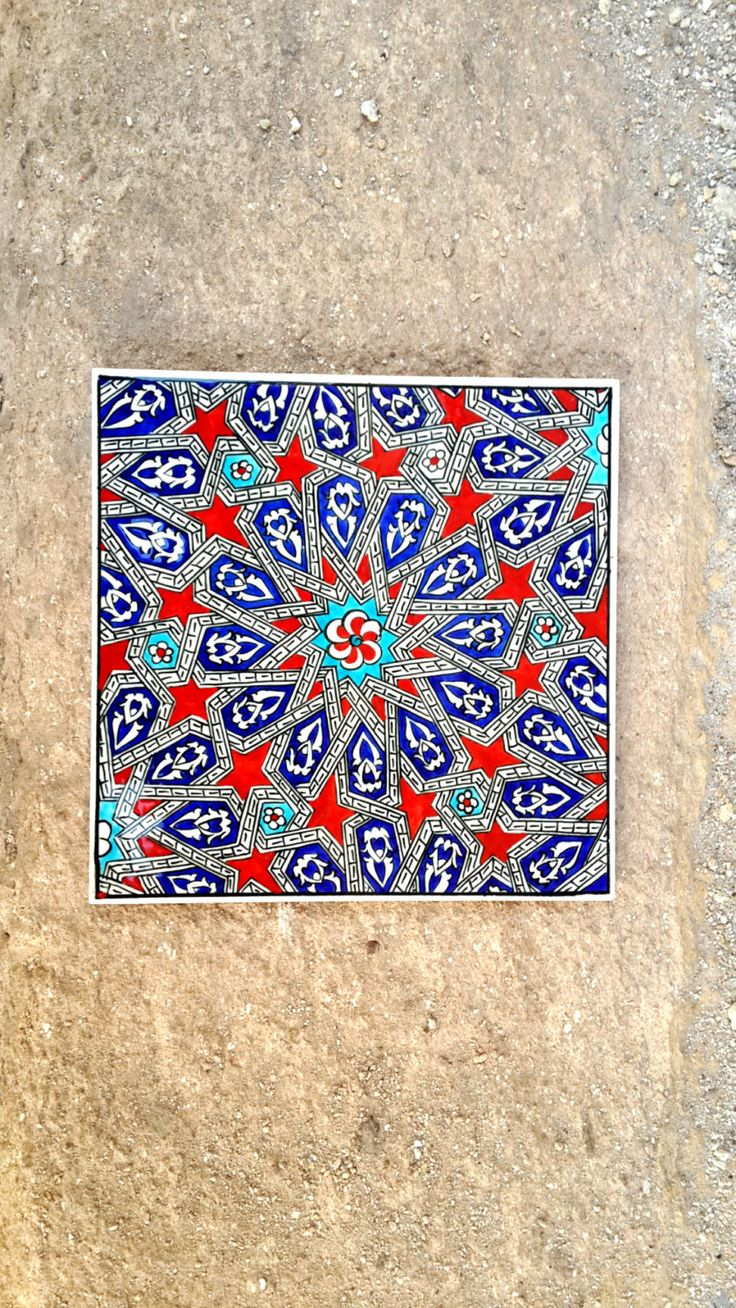 Hand Made Ceramic Tile / Wall Decor/ Turkish Ceramic by Turqu50