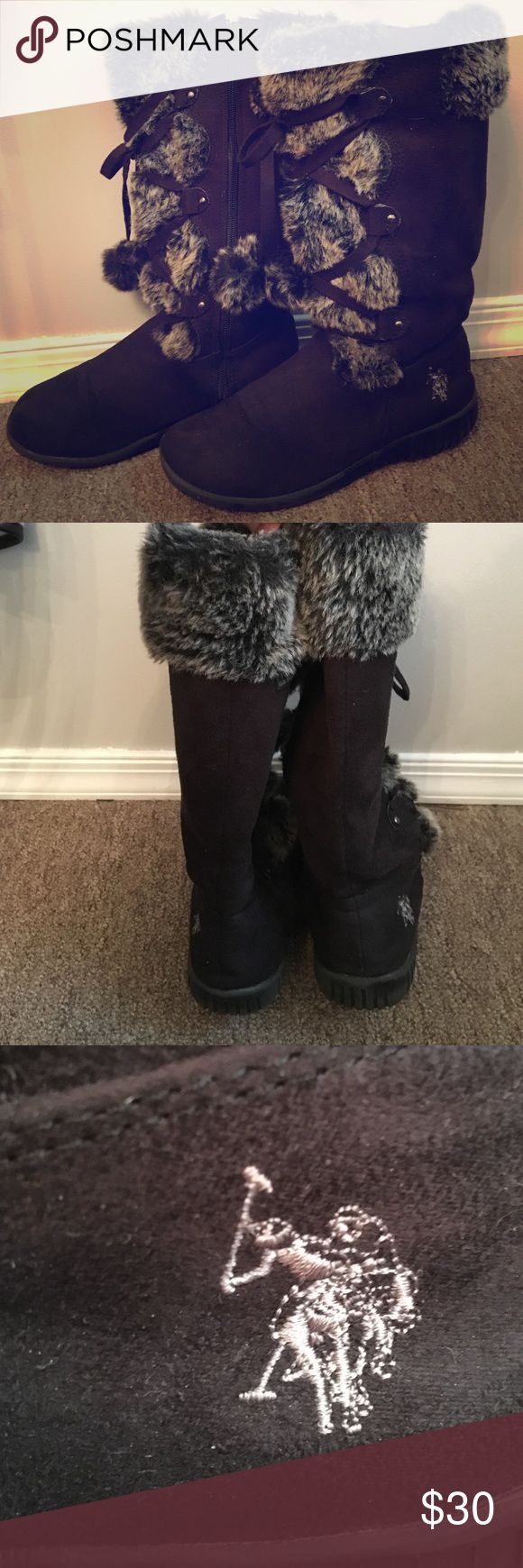 Polo by Ralph Lauren winter boots Black Polo by Ralph Lauren winter boots worn with care in good condition. Polo by Ralph Lauren Shoes Winter & Rain Boots