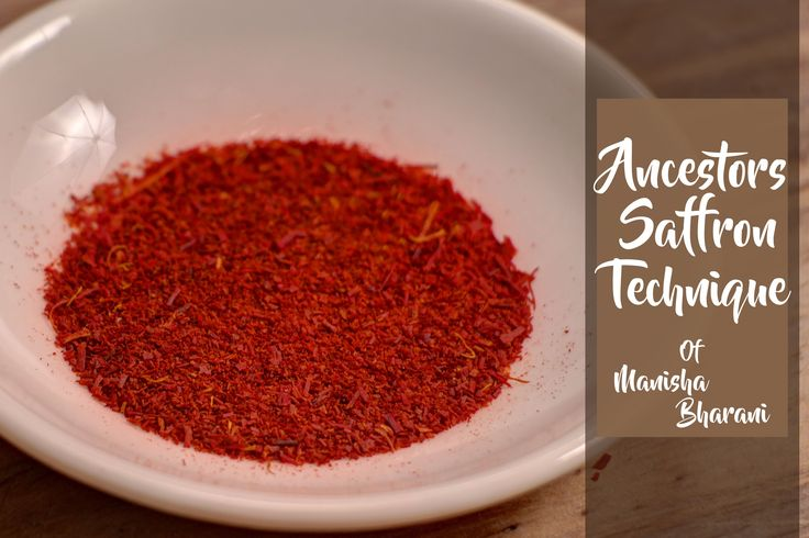 Ancestors Saffron Technique  - How to Retain Colour & Flavor From Zaffra...