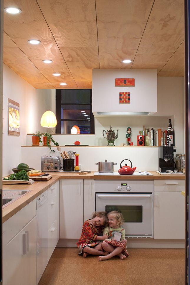 seattle treehouse kitchen kids portrait