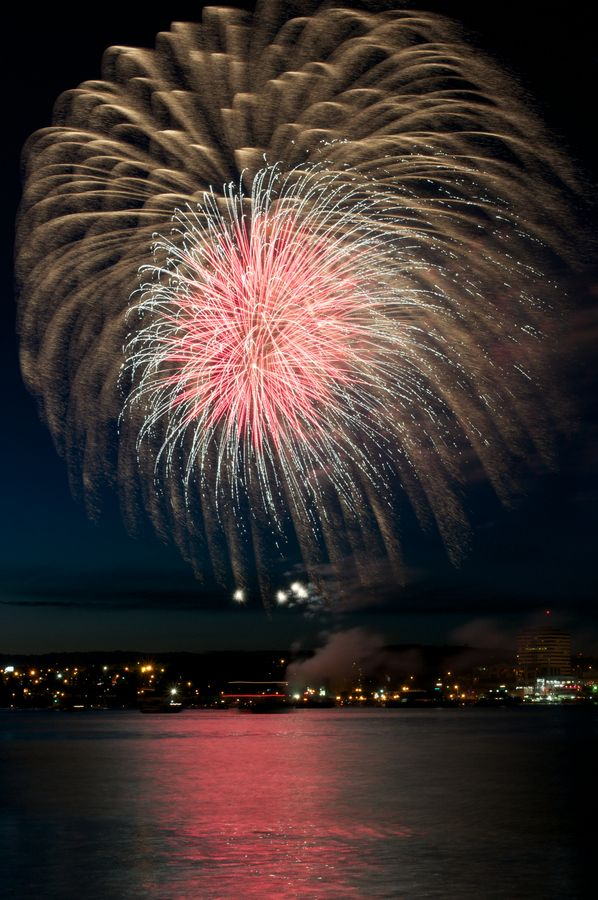 Canada Day over Halifax Harbour. Amazing firework display guaranteed!