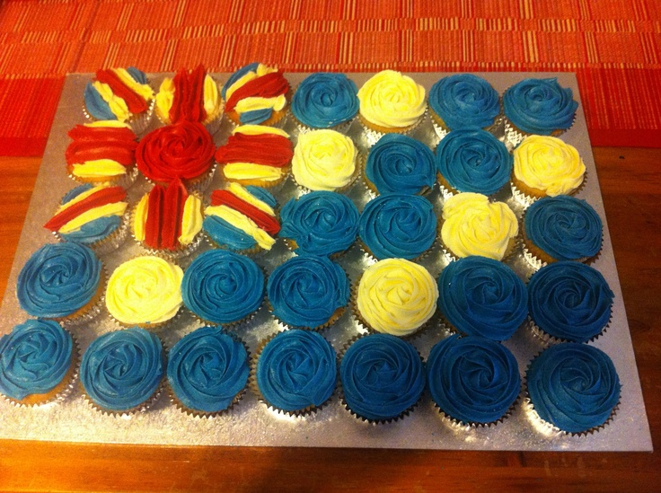 Cupcakes I made for Australia Day BBQ 2013