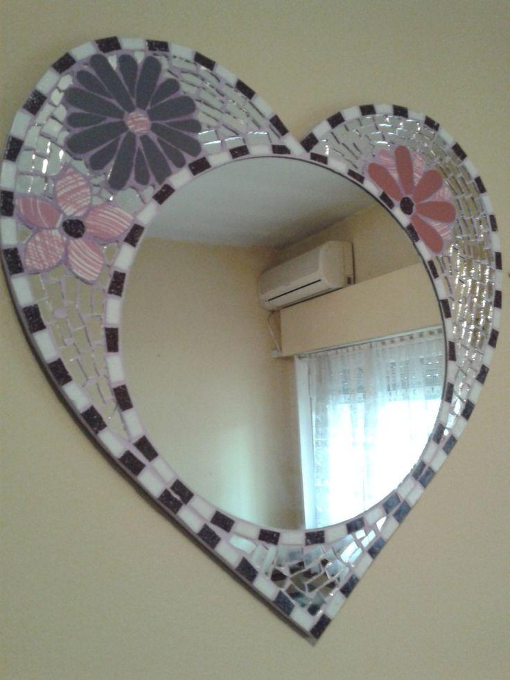 Espejo Corazon Mosaiquismo Y Trencadis - $ 480,00 en MercadoLibre